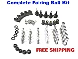 Complete Motorcycle Fairing Bolt Kit Kawasaki 2003 - 2004 ZX-6R ZX-6RR Body Screws, Fasteners, and Hardware