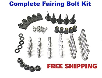 Complete Motorcycle Fairing Bolt Kit Honda CBR600RR 2007 - 2008 Body Screws, Fasteners, and Hardware