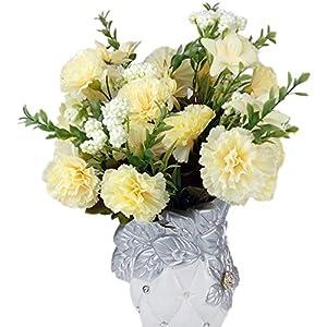Yamalans 1PC Artificial Carnation Faux Flower Home Garden Wedding Arrangement Party DIY Decor 47