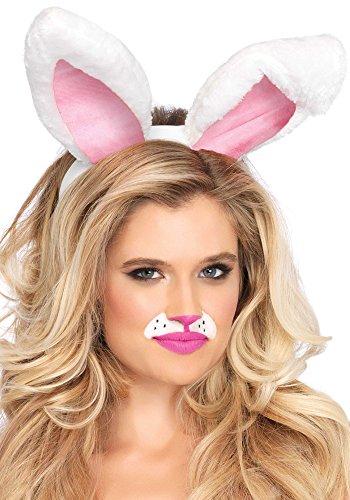 Leg Avenue Womens Plush Bunny Ears, White, One Size