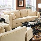 Coaster Sofa Couch, Velvet Fabric, Cream