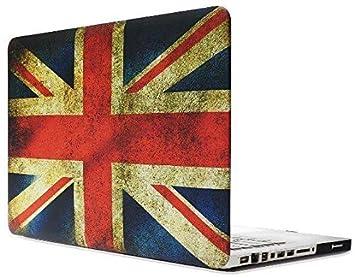 Topideal - Carcasa rígida mate con tacto suave para MacBook Pro de 33 cm (13 pulgadas) (no retina), modelo: A1278. Flag of UK