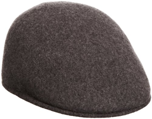 Kangol Men's Seamless Wool 507 Ivy Cap, Ergonomic, Contoured Fit, Dark Flannel (Small) ()