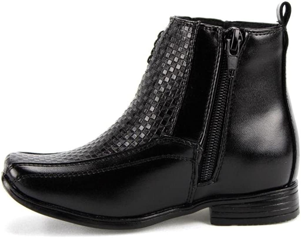 Bonafini Infants//Toddlers I-322 Ankle High Party Dress Boots Side Zip