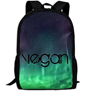 Vegan Unique Outdoor Shoulders Bag Fabric Backpack Multipurpose Daypacks For Adult