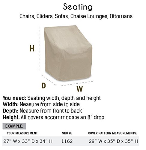 Protective Covers Weatherproof 2 Seat Glider Cover, Gray by Protective Covers (Image #4)