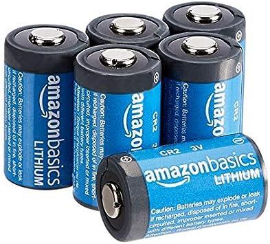 AmazonBasics - Pilas de litio CR2 de 3 V, Pack de 6: Amazon.es: Electrónica