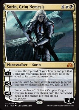 251//297 - Shadows Over Innistrad Magic: the Gathering Grim Nemesis Sorin