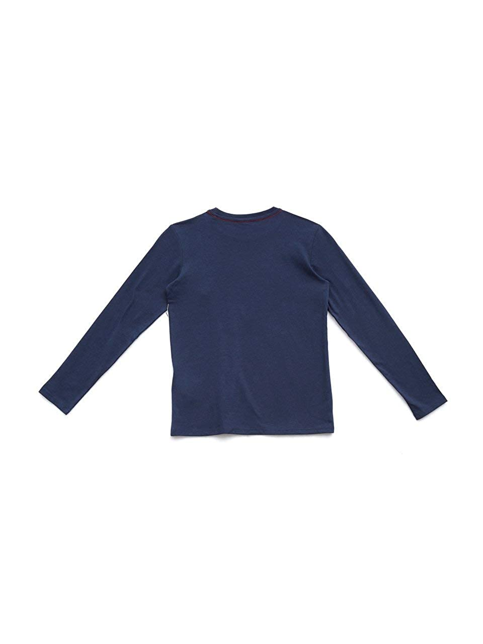 Guess T Shirt Manica Lunga Bambina Blu
