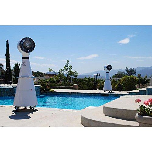 Lava Aire Italia Outdoor Misting Fan, Pearl White by Lava Aire Italia (Image #3)