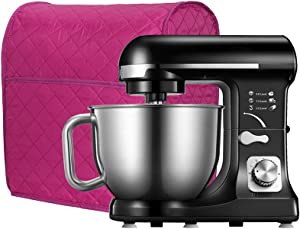 Stand Mixer Cover, Cotton Quilted Dust-proof Cover Kitchen Mixer Part and Accessories Organizer Protector Cover Bag,Compatible with All 6-8 Quart Kitchen Aid Mixers. (Rose Red#1)