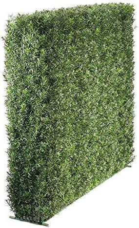 artplants.de Set Tejo sintético para Vallas de ocultacion Jardin + Spray de protección UV - Seto plástico FANNO, Estructura metálica 100x80cm: Amazon.es: Hogar