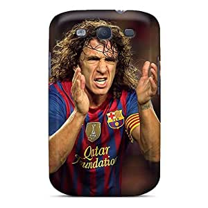 High Impact Dirt/shock Proof Case Cover For Galaxy S3 (the Player Of Barcelona Carles Puyol Applauding)