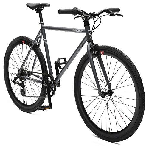 (Retrospec Bicycles Mantra-7 Urban Commuter Bicycle, Graphite/Black, 53cm/Medium)
