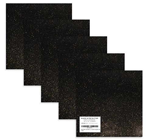 (Black Glitter Vinyl Sheets 12