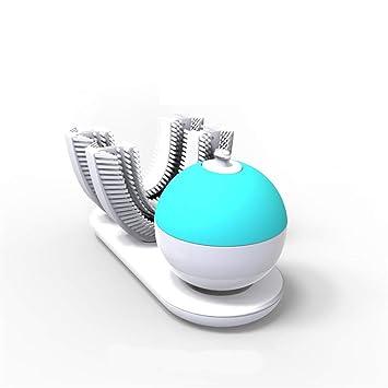 Cepillo De Dientes En Forma De U Eléctrica Perezoso Inteligente Automático Sonic Cepillado 360 Grados No Hay ángulo Muerto 10s Limpieza: Amazon.es: Hogar