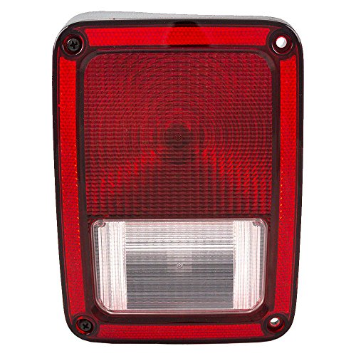 Taillight Tail Lamp Driver Replacement for 07-14 Jeep Wrangler 55077891AF (Light Lens Tail Jeep)