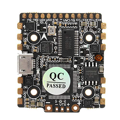 HGLRC F4 Zeus F4 FC AIO Flight Controller 15A BLHELI_S 4 in 1 ESC For Rc FPV Racing Drone 20mm x 20mm Mounting Pattern Mini Quads Perfect for Micro Class Racers Quadcopter