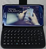TOP Quality Wireless Removable Bluetooth Keyboard Leather Flip Folio Case Cover for Samsung Galaxy S4 SIV i9500. Latest Wireless Bluetooth Detachable Keyboard + Leather Portfolio Case for Galaxy S IV GT-I9500