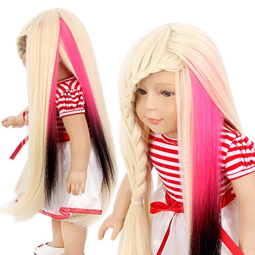 American Girl Doll Wig Pieces Clip in Hair