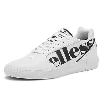 c6580c043d Amazon.com: Ellesse Men's Ostuni Leather Trainers, White: Shoes
