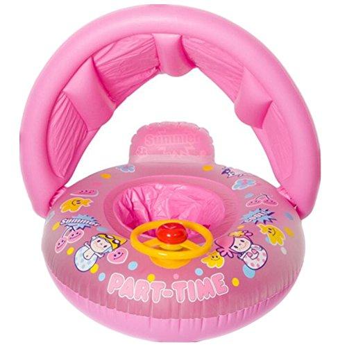 Bouée gonflable avec siège et protection solaire pour bébé, ceinture de sécurité, volant