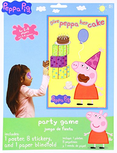Birthday Party Game Activity, 3 Pieces, Made from Paper, Peppa Pig, by Amscan - Kid Birthday Party Games
