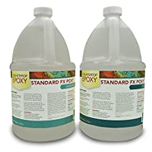 FXpoxy-Epoxy Resin 2 Gallon Ultra Clear UV resistant (50-60 sq ft) Countertops, Table Tops, Bartops