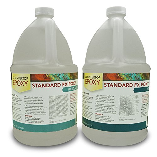 - Countertop Epoxy - FX Poxy - UV Resistant Resin - 2 Gallons (Ultra Clear, 40 sq ft)