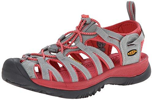 KEEN Women's Whisper Sandal, Neutral Gray/Rose, 8.5 M US