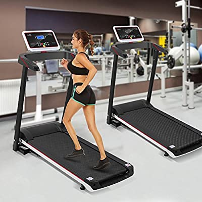 Lantusi 2.5HP Electric Folding Treadmill, Walking Running Machine, Fitness Exercise Equipment Gym Home, US STOCK