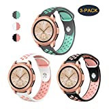 Compatible Samsung Galaxy Watch (42mm) Band/Galaxy Watch Active (40mm) Bands,Valband Soft Silicone 20mm Watch Band Replacement Sport Strap Wristband for Women Men