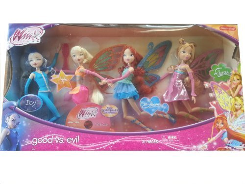 Winx Club Good vs Evil 4 Pack Icy Bloom Stella Flora 11.5