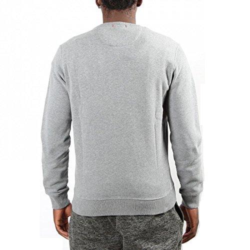 Blu Logo Manica Felpa Silver Grigio Usa Uomo Lunga Wofel1056 185d Woolrich Iq8wv6n