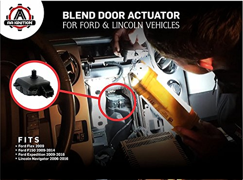 Heater Blend Door Actuator Replaces# YH1933 DL3Z-19E616-A 604-252 2012 2014 Fits Ford Flex 2009 2011 Air Door Motor Ford F150 2009 2013 Expedition /& Lincoln Navigator 2009-2016 2010