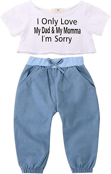 Cropped Pants 2Pcs Outfit Toddler Baby Girls Clothing Sets Short Sleeve Rabbit Printed Top