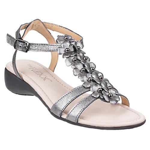 Tris Damen The Flexx Sommer Sandale Gladiola Leder New Metallisch gwAfqt