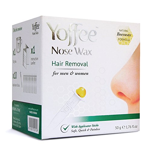 Simon & Tom Yoffee Nose Wax Nasal Hair Removal with Natural Beeswax Formula. Safe, Quick and Painless 50g