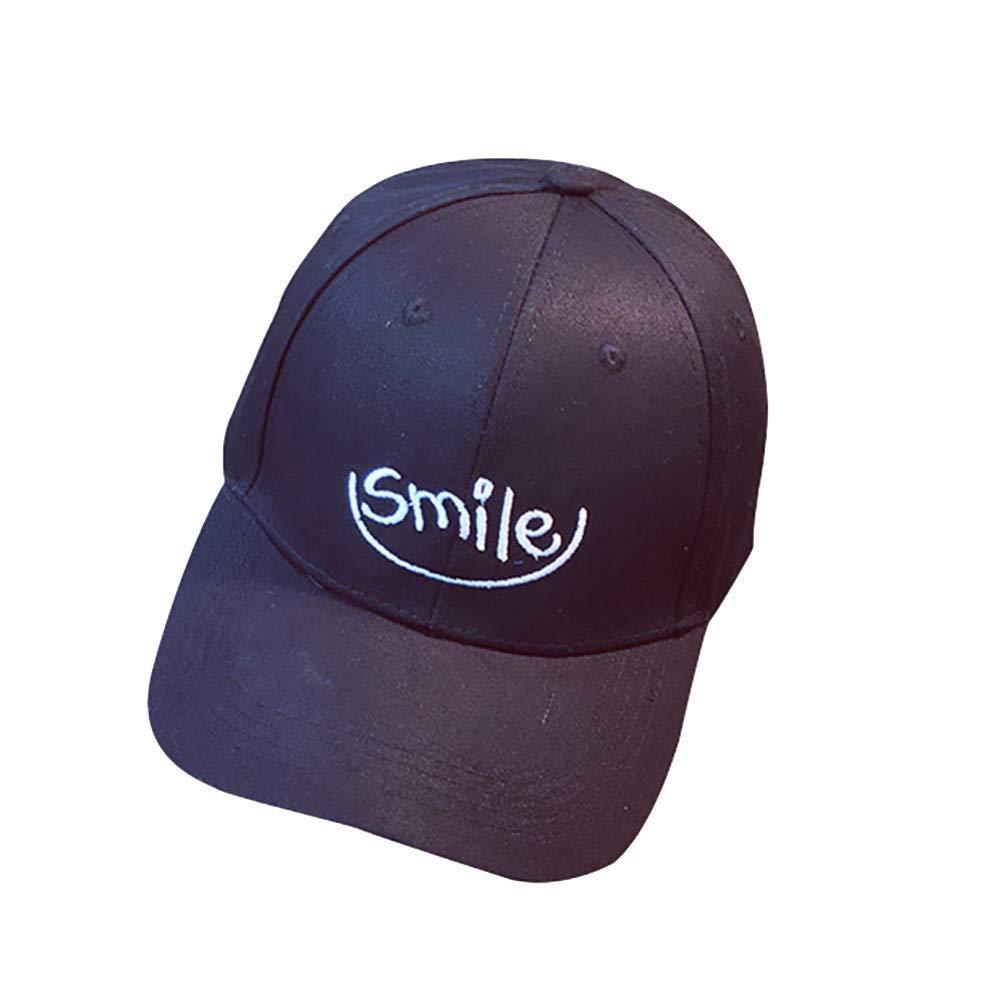 JKYJYJ Baseballm/ützen H/üte Hip Hop///Frauen/Stickerei Brief L/ächeln Charakter Flat Hat Cap/M/änner/Baumwolle/Streetwear Casquette Homme Gorras