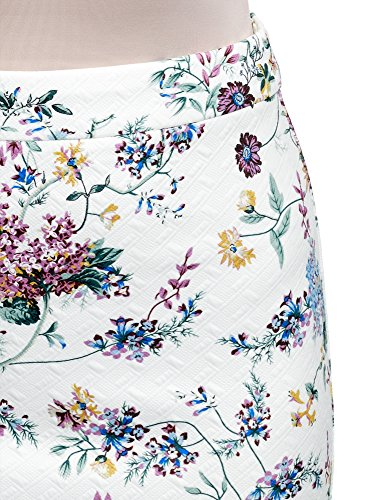 Ultra 1019f Textur Crayon oodji Femme Jupe Tissu en Blanc PRnqBZx
