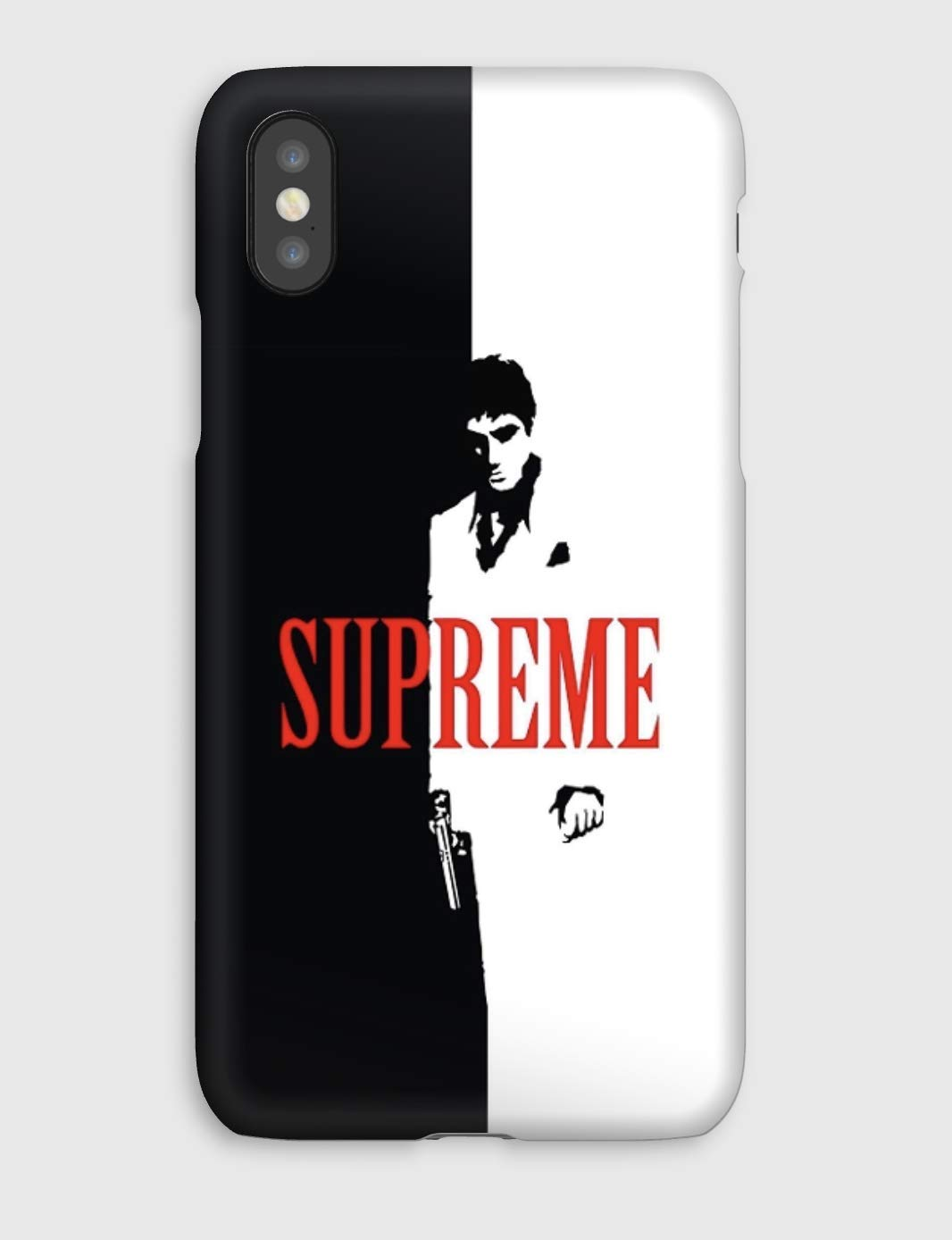 Supreme N&B, coque pour iPhone XS, XS Max, XR, X, 8, 8+, 7, 7+, 6S, 6, 6S+, 6+, 5C, 5, 5S, 5SE, 4S, 4,
