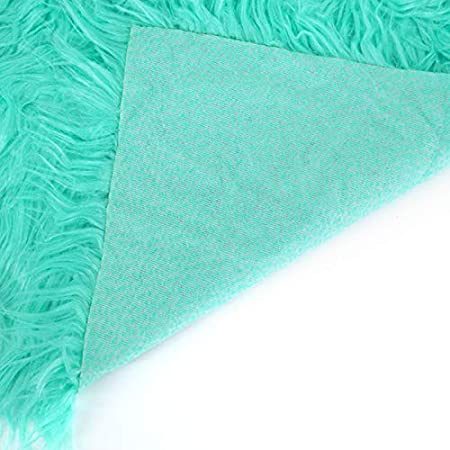 Light Green Newborn Baby Photo Props Blanket Soft Faux Fur Photography Carpet Rug Studio Backdrop Photo Mat