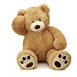 MorisMos Giant Teddy Bear with Big Footprints Plush Stuffed Animals Light Brown 39 inches