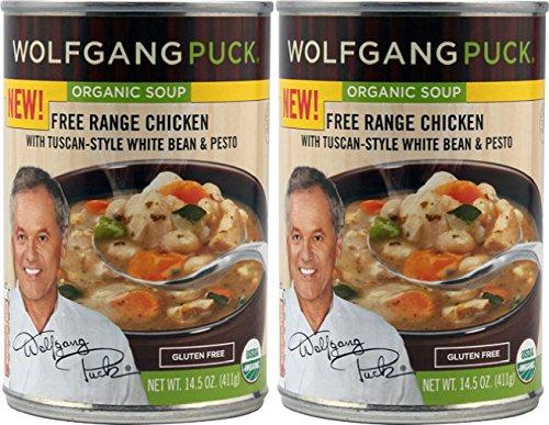 Wolfgang Puck Organic Soup (Wolfgang Puck Organic Soup Free Range Chicken with Tuscan-Style White Bean & Pesto (Pack of 2))