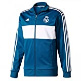 2017-2018 Real Madrid Adidas 3S Track Top (Dark Grey)