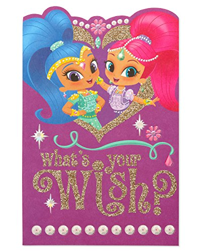 American Greetings Shimmer and Shine Birthday Card for Girl with Glitter (Card Shimmer)