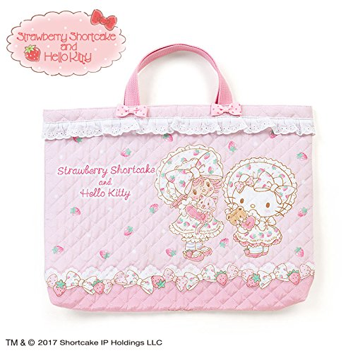 Sanrio Hello Kitty × Strawberry Shortcake quilting tote bag From Japan (Strawberry Shortcake Classic Toddler Costumes)