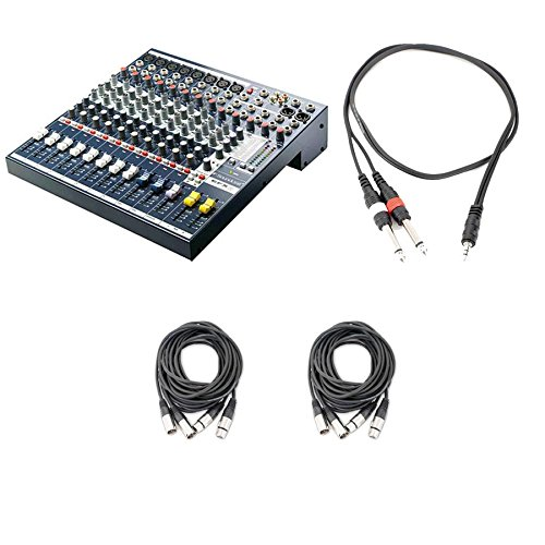 Soundcraft EFX8 8-Channel Mixer with 24-bit Lexicon Digital Effects with Cables