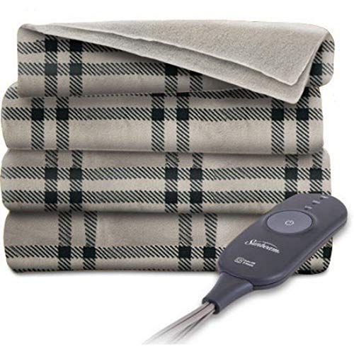 Tan Electric Blanket - Sunbeam Heated Electric Throw Blanket Fleece Extra Soft 50