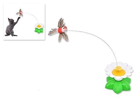 DAYOLY Juguetes interactivos para gatos, juguetes interactivos para mascotas, juguetes divertidos con forma de flor, ...
